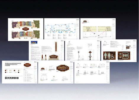 Scope Design Development And Construction Drawings Of Signage Plans Including Logo Identity Tenant Sign Guidelines Standout Lamp Post